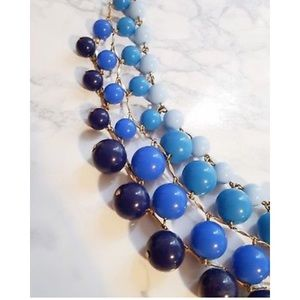 {J. CREW} Bauble Cascade Necklace in Maritime Blue